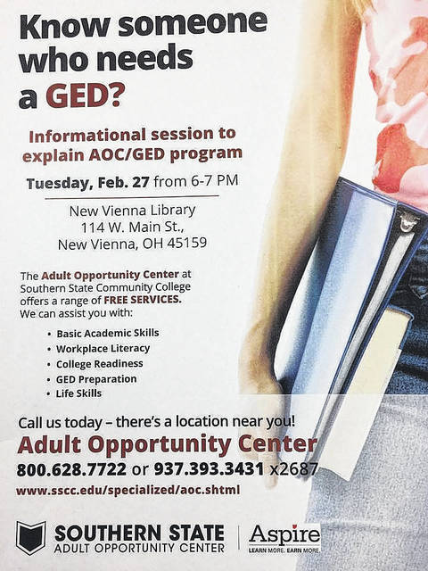 Adults can learn everything from GED preparation to life skills through Southern State.