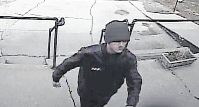 The suspect in a theft case that occurred at a local business on East Locust Street.