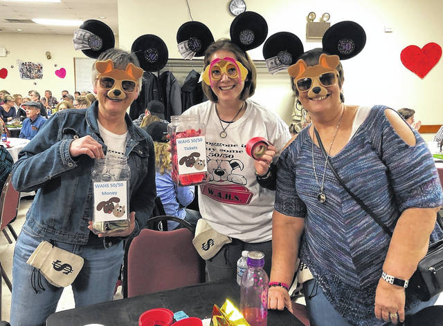 A huge (and happy) crowd again attended the annual WAHS Reverse Raffle at the Eagles lodge.