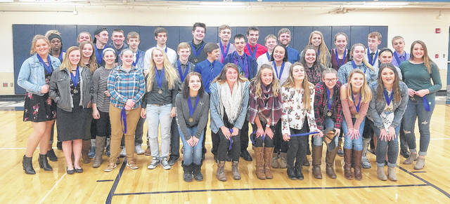 Blanchester student-athletes who carried a 3.5 GPA during the winter season.
