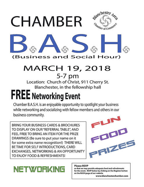 free networking bash in blanchester wilmington news journal