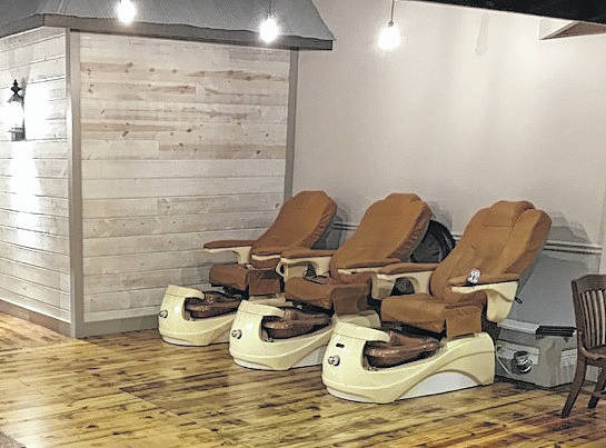 These are the new pedicure chairs at The Cutting Room.