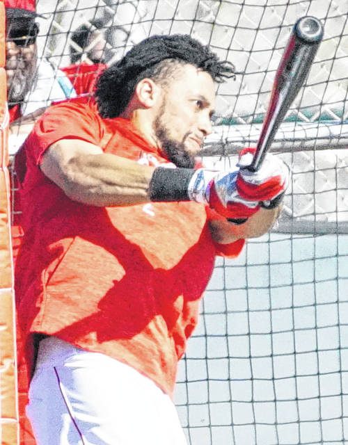 Billy Hamilton gets in some batting practice.