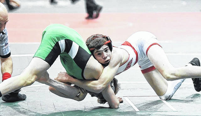 East Clinton's Wyatt Riddle advanced to Day 3 of Division III state wrestling in Columbus.