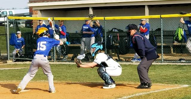 Blanchester catcher Cole Ficke