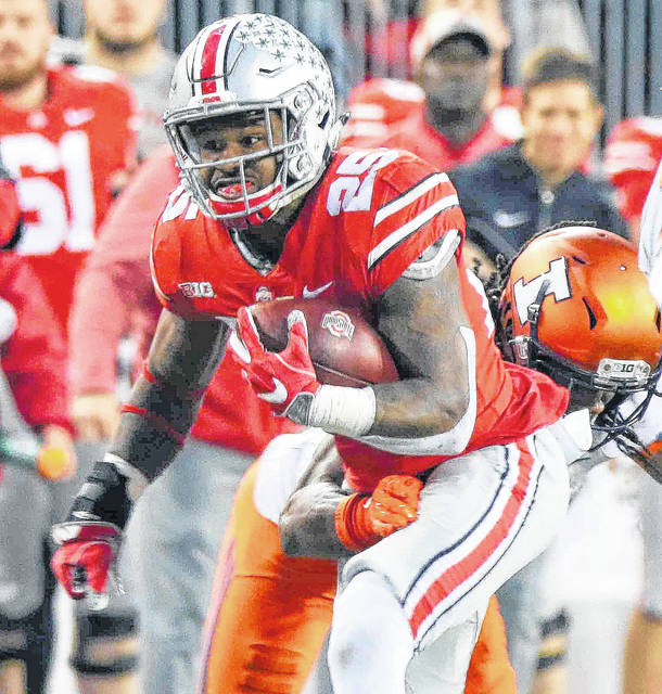 Mike Weber will be one of the running backs to get carries for Ohio State this season.