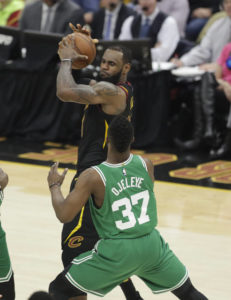 On time, on target: LeBron, Cavs pound Celtics in Game 3