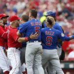 Happ, Cubs rout Reds 10-0 for doubleheader split