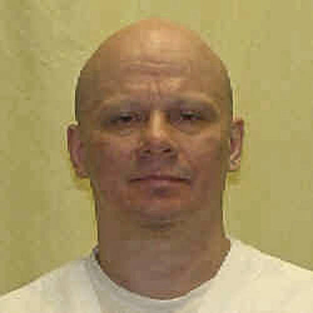 "FILE - This undated file photo provided by the Ohio Department of Rehabilitation and Correction shows death row inmate Robert Van Hook, convicted of the fatal 1985 strangling and stabbing of David Self, a man he met in a bar in Cincinnati. Attorneys for a condemned killer are asking that their client be spared, saying he experienced a ""homosexual panic"" of self-revulsion before killing the man he picked up at the Ohio bar. The Ohio Parole Board is scheduled to hear arguments on Thursday, May 24, 2018, for and against Van Hook's clemency request. (Ohio Department of Rehabilitation and Correction via AP, File)"