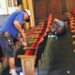 Army of volunteers work in Wilmington on Murphy Theatre improvements