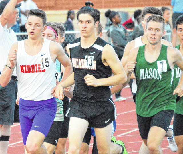 HUBER HEIGHTS - The track season for Simon Heys ended Friday night at the Region 8 Track & Field Championship at Wayne High School. Competing in the 3,200-meter run, Heys got off to fast start but finished 10th in the race with a time of 10:07.21. The fourth place time - the final time advancing to next week's state meet - was a 9:24.83.