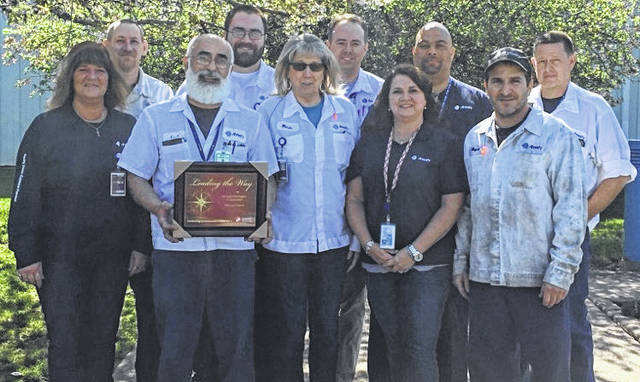 From left are: front, Sherry Barrett, 10-unit donor; Fadi Al-Ghawi, chairperson of the team and 149-unit donor; Wanda Shibley, 20-unit donor; Tamika Mallow, 5-unit donor; and Wayne Avedisian, 34-unit donor; back, Roger Hughes, 39-unit donor; Eric Studt, 8-unit donor; John Patrick, 9-unit donor; Howard Johns, 48-unit donor; and Dennis Chaney, 38-unit donor.