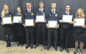 Seven Blan FFA members receive State Degrees