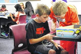 Children can have while learning at S.T.E.A.M. camps.