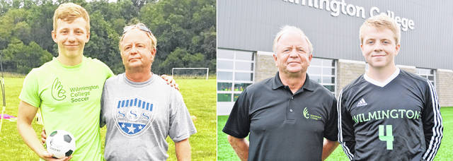 In the photos are the trio of Spirks who will be working at the July 16-19 Spirk Soccer School at Robert Hensley Fields at David R. Williams Memorial Park. In the photo at the left is Sam Spirk and father Steve Spirk. In the photo at the right is Steve Spirk with Benny Spirk.