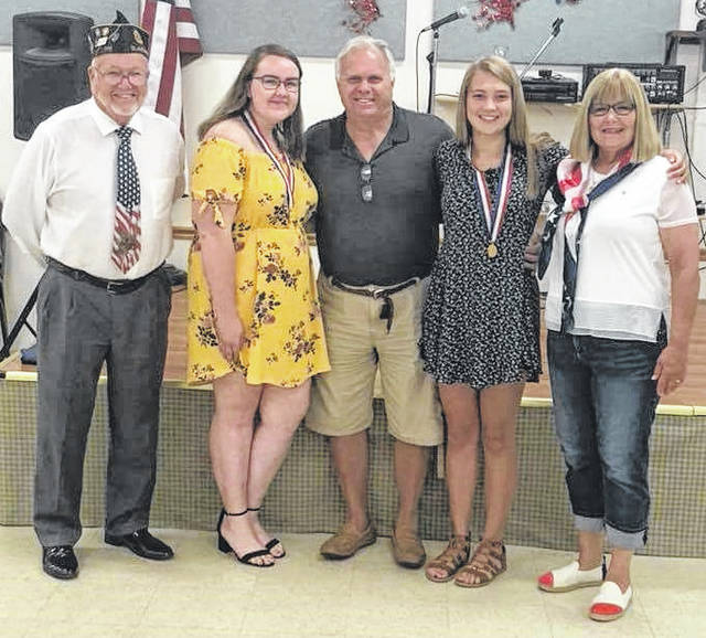 From left are Bruce Barricklow, Calleigh Hixson, Rick Hosler (a friend of Molly's), Molly Campbell and Joyce Kelly