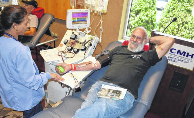 Jim Runk was regular platelet donor at the Eagles blood drive and he'll now be at the CMH blood drives.