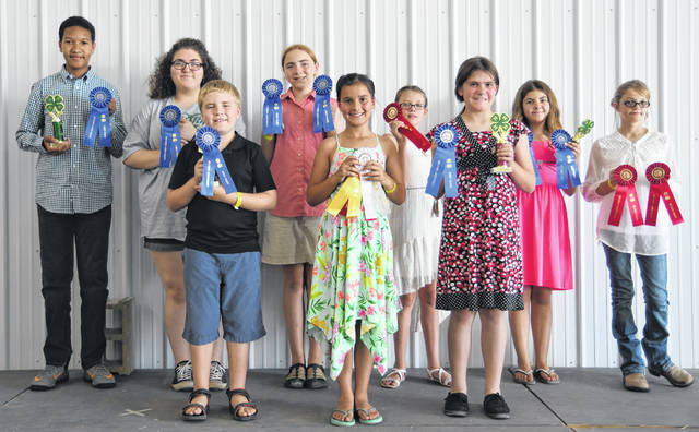 All Cat and Small Pet Show first-place winners and state fair representatives, including Tony Wilen-Mabry, Autumn Lynch, Owen Koch, Carolyn Koch, Jacelyn Lawson, Rhyla Jordon, Harley Wheeler, Autumn Smith, Kennedy Moore. Not pictured, but heading to state fair, is Kathlyn Whitt.