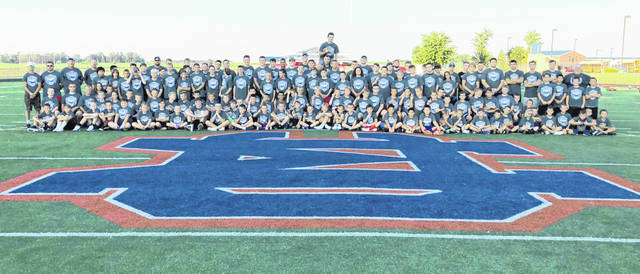 More than 100 youth attended the annual Clinton-Massie Youth Football Camp at Frank Irelan Field. The camp was under the direction of the Clinton-Massie coaches and players.
