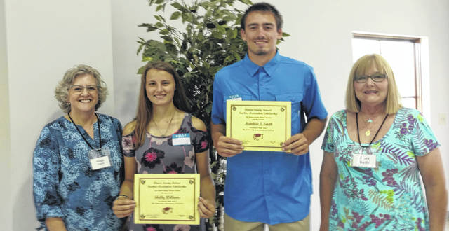 From left are CCRTA President Maggie Vance, Shelby Williams, Matthew Smith, and Joyce Kelly