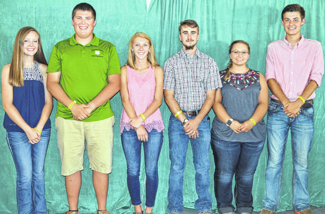 Recipients of a County 4-H Endowment scholarship include, from left, Anne Thompson, Drew Moyer, Katie Hughes, Andrew Houseman, Lauren Davis and Ridgeden Beam. Not pictured but also awarded the 4-H Endowment scholarship are Katie Glass, Ethan Dickey-Hall, Hailey Stinchcomb and Dakota Zurface.