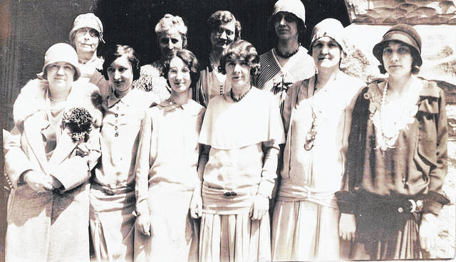 """In this photo labeled """"Smith Place teachers 1926"""", from left are: Front, Bonnie Lukens, Alice Mills, Maurine Taylor, Mary Bath, Bertha Peelle and Mary Cherryholmes; and, back, Lola Street, Mamie Regan, Viola Larrick and Helen Sapp. Can you tell us anything about these local residents/teachers? (Also, please let us know if any names are spelled incorrectly.) Email the News Journal at info@wnewsj.com ."""