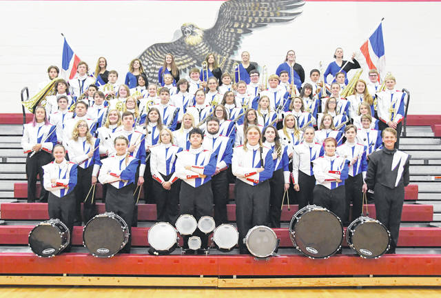 The Clinton-Massie High School marching band.