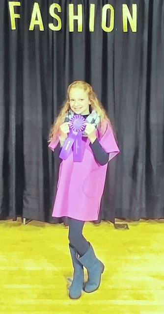 Kensey Parker earned Outstanding of the Day at the 2018 Ohio State Fair for her Tops for Tweens sewing project.