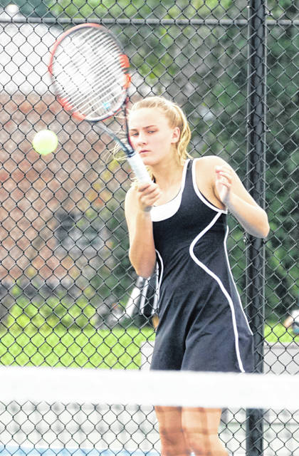 Claire Burns of Wilmington was the second singles champion in the Wilmington Invitational tennis tournament.