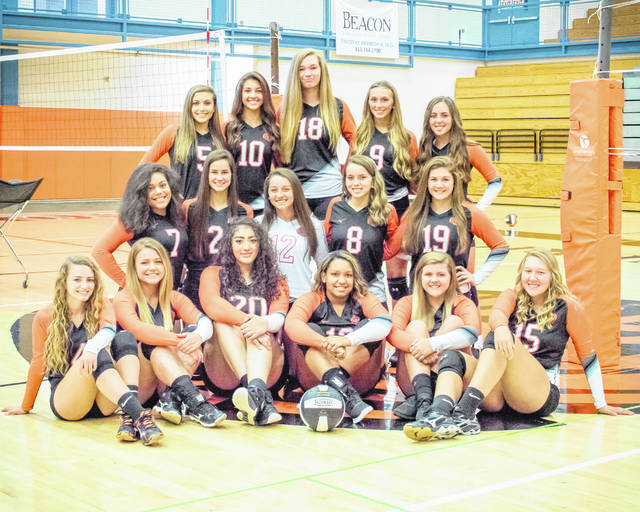 The Wilmington High School varsity volleyball team, from left to right, front row, Alix South, Bry Thompson, Ti Harris, Aaliyah Huff, Samantha Achtermann, Madi Flint; middle row, Chay Johns, Emily Butcher, Harlie Bickett, Kathryn Hardin, Mariah Knowles; back row, Emily Self, Sami McCord, Maura Drake, Lexi Evans, Logan Osborne.