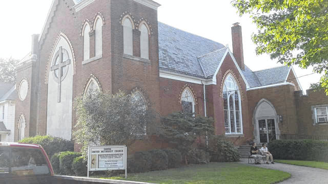 """The Sabina United Methodist Church is at 61 W. Elm St. in Sabina. Sunday worship Services are at 10:30 a.m.; the church """"welcomes all visitors. We look forward to worshiping our Lord Jesus together with you. Our worship service lasts for approximately one hour. It is a time of worshiping with music, responsive readings, prayer and a sermon."""" For more information on Sabina UMC, visit sabina.umc.com or visit their Facebook page, or call 937-584-2112."""