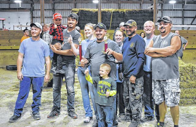 R&R Tool, Inc. of Blanchester won the Corn Olympics and won Best Outhouse Saturday night in the cattle barn at the Clinton County Corn Festival.